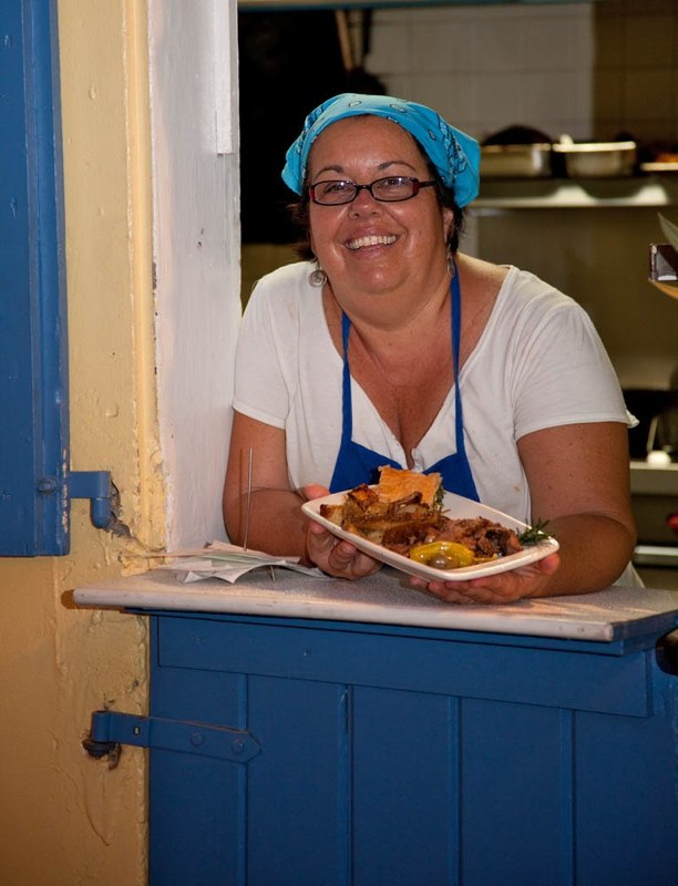 Val - Greek Night, Inn at Tamarind Court, Restaurant, Cruz Bay, St. John, U.S. Virgin Islands